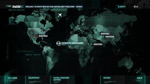 L'écran de sélection des missions